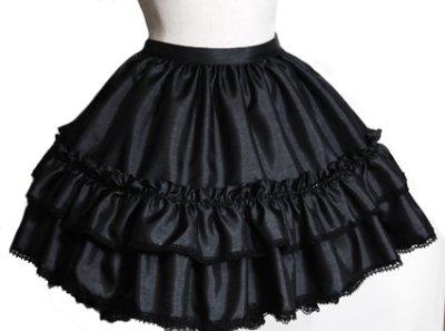 画像1: 銀糸の檻スカート