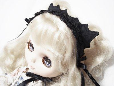 画像1: 黒猫ヘッドドレス(Dollサイズ)