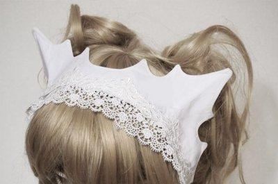 画像1: 白猫ヘッドドレス