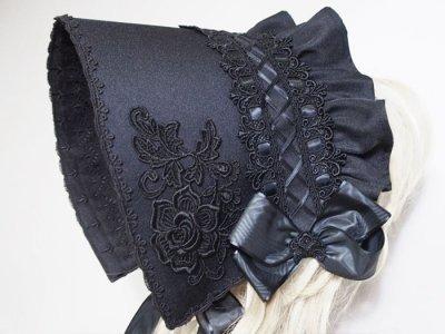 画像1: 黒小鷺ヘッドドレス
