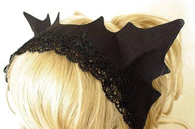 画像1: 黒猫ヘッドドレス