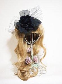 その他の写真1: 黒薔薇veilヘッドドレス